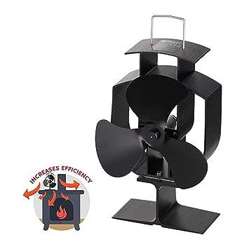 XBDOT Ventilador de Chimenea Aumentar el Ciclo térmico Ventilador de calefacción Quemador de Aire Caliente Mejorar