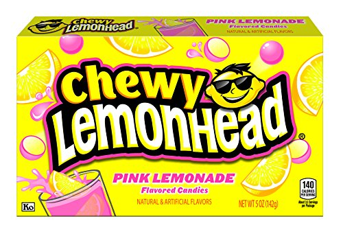 Lemonhead Chewy Candy, Pink Lemonade, 5 Ounce Theatre Box