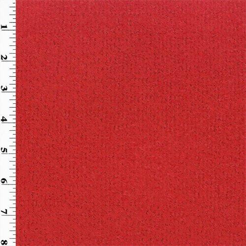 Polartec Curly Fleece - Red, Fabric By the Yard (Curly Fabric Fleece)