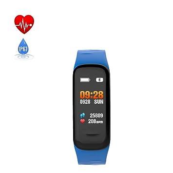 SUNSUNNY Reloj Fitness Tracker, Contador de calorías a Prueba de Agua con Pantalla a Color