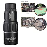 16x52 Waterproof Monocular Day and Night Vision Dual Focus Compact Zoom Optics Telescope for Hunting Camping Hiking Camping Birdwatching Surveillance