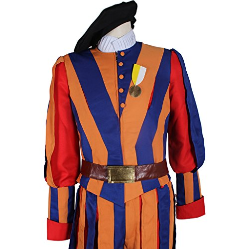1791's lady Men's Carnival Switzerland Soldiers Swiss Guard Uniform Cosplay Costume L by 1791's lady (Image #5)