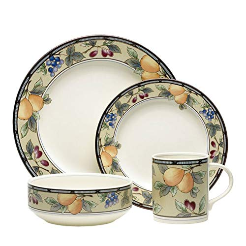 (Mikasa Garden Harvest 16 Piece Dinnerware Set, Service for 4)