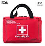 First Aid Only All-purpose First Aid Kit,130 -Piece Kit,Be Prepared For Office,Home,Car,School,Emergency,Survival,Camping,Hunting and Sports.- By EnergeticSky™