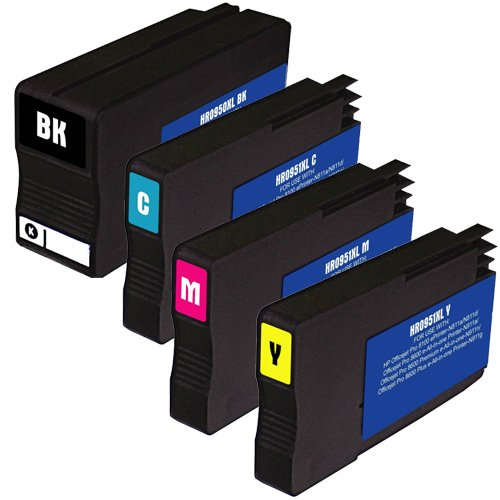 Do it Wiser Compatible Set Ink Cartridges for HP OfficeJet Pro 251dw 276dw MFP 8100 8600 8600 Plus 8600 Premium 8610 8615 8620 8625 8630 - CN045AN CN046AN CN047AN CN048AN (4 Pack)
