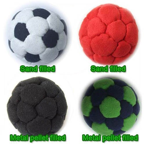 Set of 4 footbag hacky sack sand and metal MIX item: M4-119 by Star
