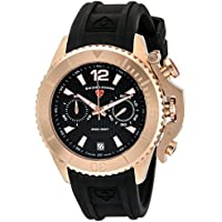 Swiss Legend Men's 'Scorpion' Quartz Stainless Steel and Silicone Watch, Color:Black (Model: 14018SM-RG-01)