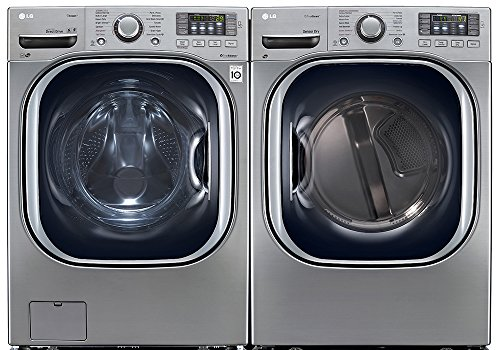 Price comparison product image Power Pair Special-LG Turbo Series Ultra-Capacity Laundry System with Steam*GRAPHITE STEEL*(WM4270HVA_DLEX4270V)