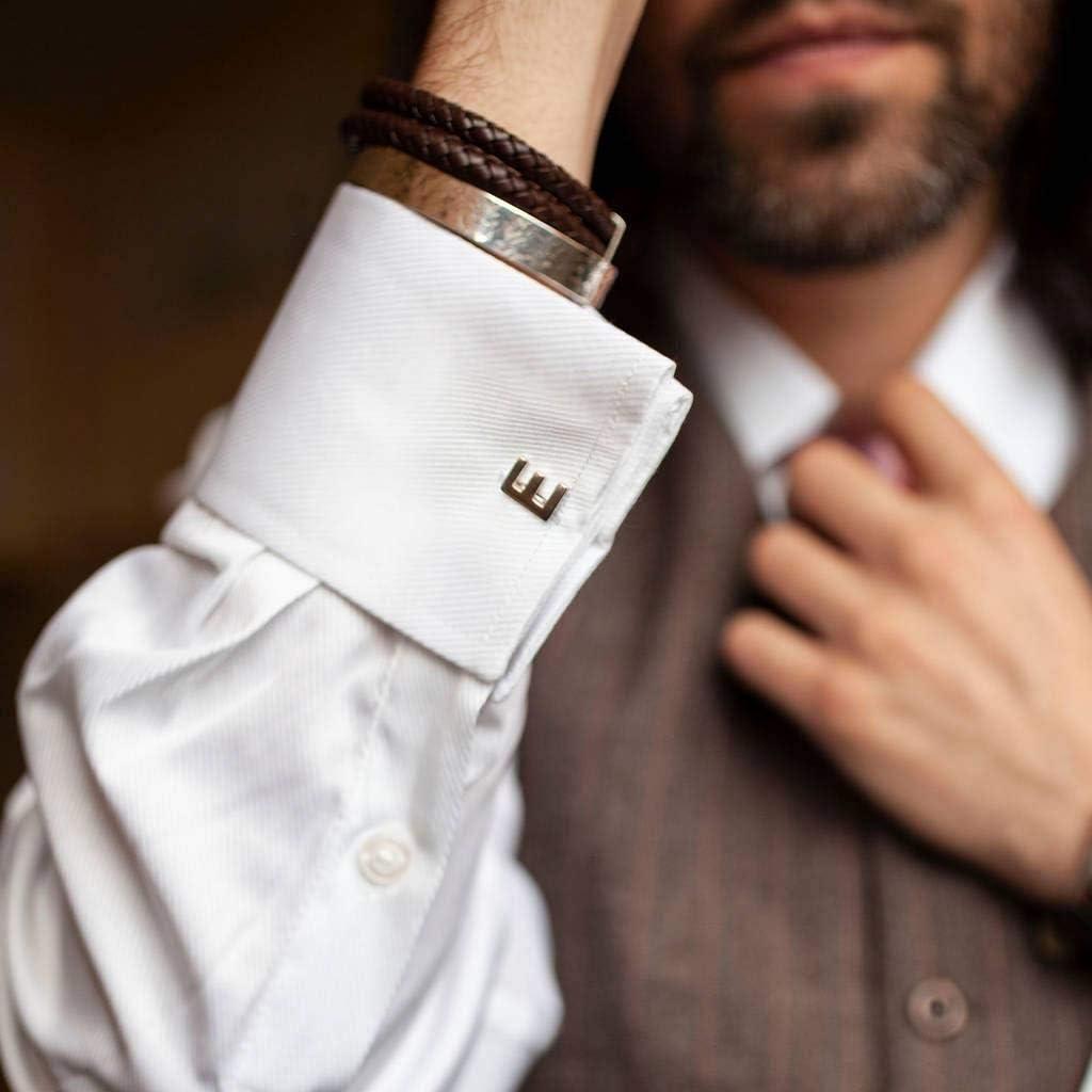 Ukerdo Personalizzata Forma Argento Gemelli Costume Camicia Gemelli Regalo per Uomo