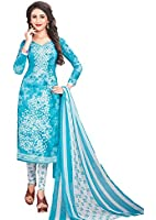 Aasri Casual/Regular/Daily Wear Unstitched Women Suit Material with Dupatta - Printed Synthetic Crepe Suit Material for Ladies