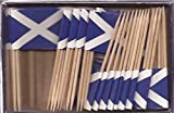 25 Box Wholesale Lot of Scotland Cross Toothpick Flags, 2500 Small Scottish Cross Flag Toothpicks or Cocktail Picks
