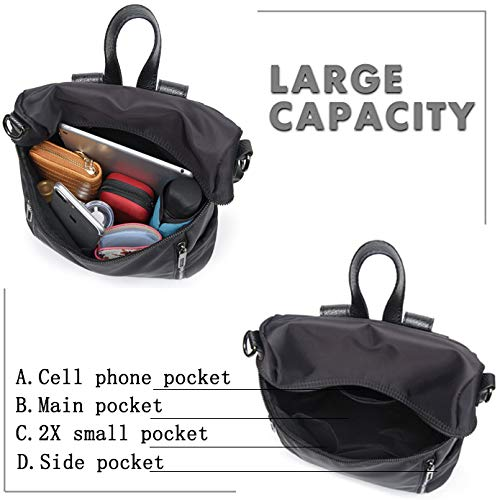 Women Backpack Purse Lightweight Fashion Canvas Ladies Handbag School Shoulder Bag Waterproof Travel Rucksack (gray) by XMeng (Image #4)