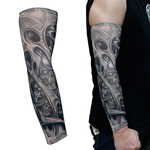 6 Pcs Fake Temporary Tattoo Sleeves Body Art Arm Stocking...