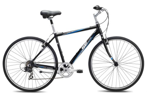 SE Bikes Palisade 7-Speed Comfort Bicycle, Black, 19 Inch