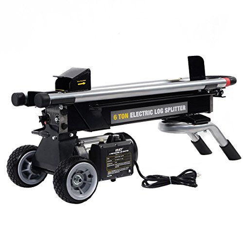 Goplus New 1500W 6 Ton Electric Hydraulic Log Splitter Wood Portable Cutter Powerful by Goplus