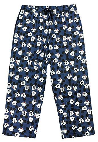 Hombre Disney Mickey Mouse Algodón Pantalones De Andar Por Casa Largo Pantalón De Pijama Tallas Ch