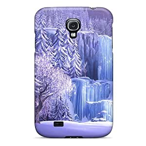 Galaxy S4 Hard Back With Bumper Cases Covers Disney Frozen Movie Waterfall