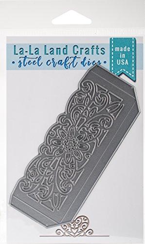 La-La Land Crafts 8293 Die-Floral Pocket, 4.75