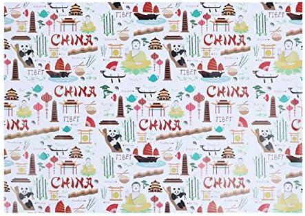 Toyvian 中国の伝統的な包装紙作りの装飾DIYのペーパークラフト10枚(パンダ)