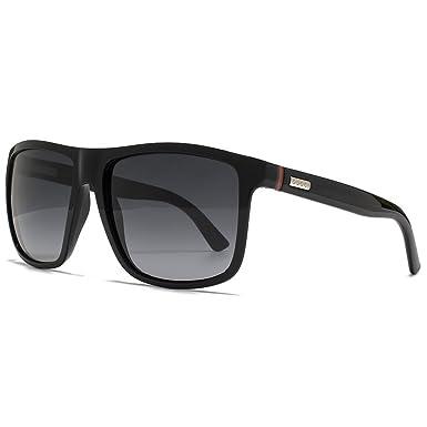 2e24f8ca25 Gucci Sporty Square Sunglasses in Shiny Black GG 1075 NS D28 57   Amazon.co.uk  Clothing