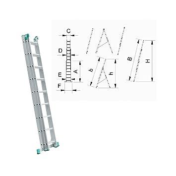 Youngman 313340 /Échelle Easiway en Aluminium /à 3 Sections