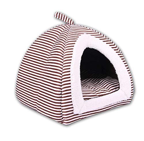 Asteria-Ashley Pet Bed 3 Colors Soft Pet Mat Creative Yurt Shape Warm Nest Pet Cat Small Dog Puppy Kennel Bed,Coffee,30 Ksa 0 as a