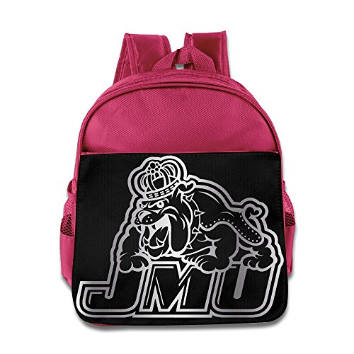James Madison Dukes Platinum Logo Children School Pink Backpack (Stanton Laptop Bag)