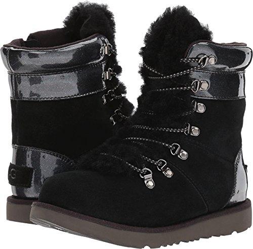 UGG Girls Viki Patent WP Boot Black Size 5 Big Kid M