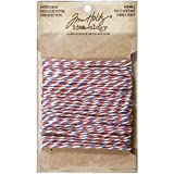 Paper String by Tim Holtz Idea-ology, Air Mail, 10 Yards, Red/White/Blue, TH93206