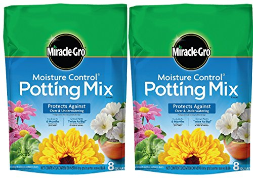 Mix Control - Miracle-Gro Moisture Control Potting Mix, 8-Quart (currently ships to select Northeastern & Midwestern states) (2 Pack (8-qt.))