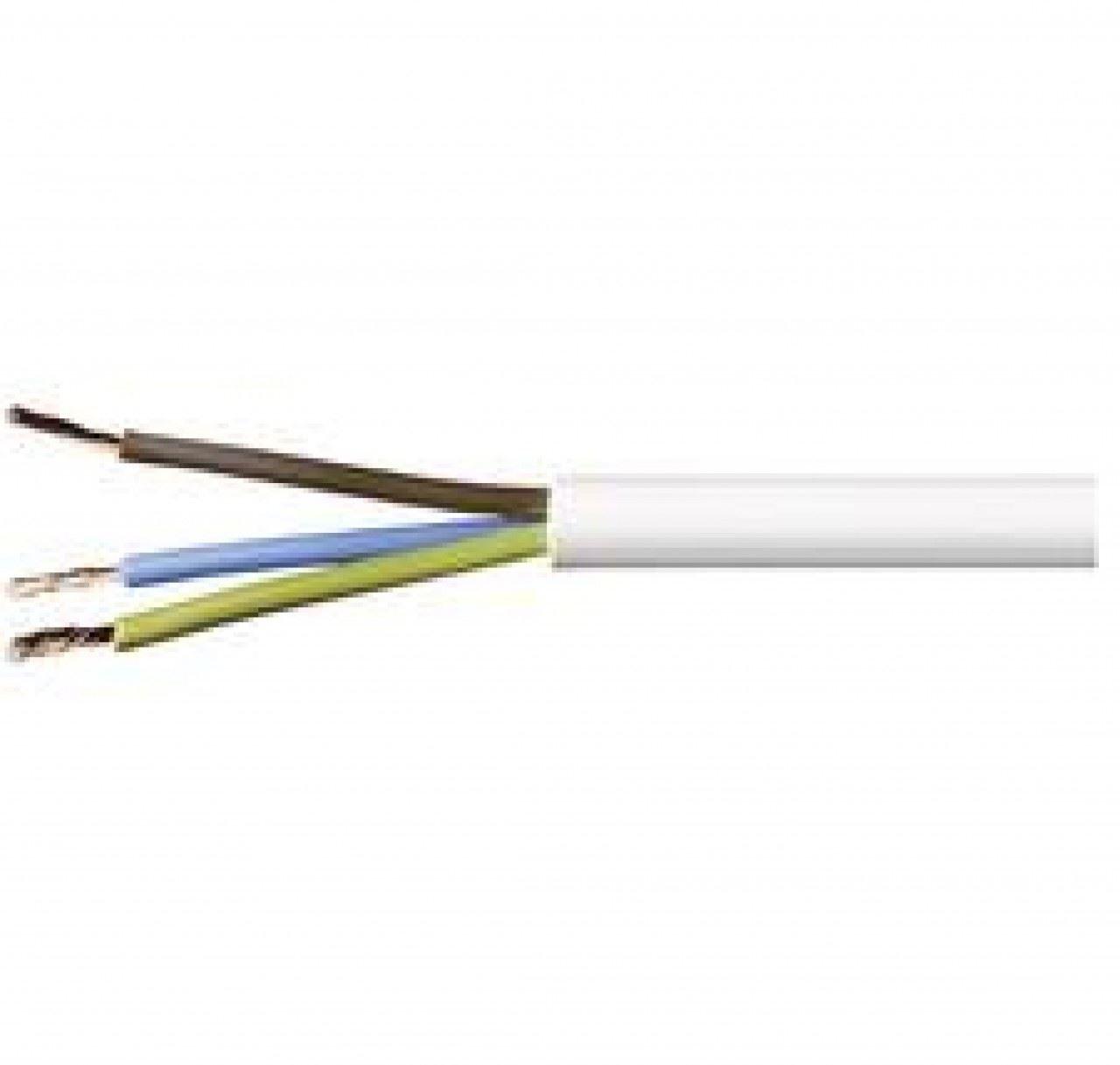 3 Core Heat Resistant Flex - 1mm x 10 Metres Branded