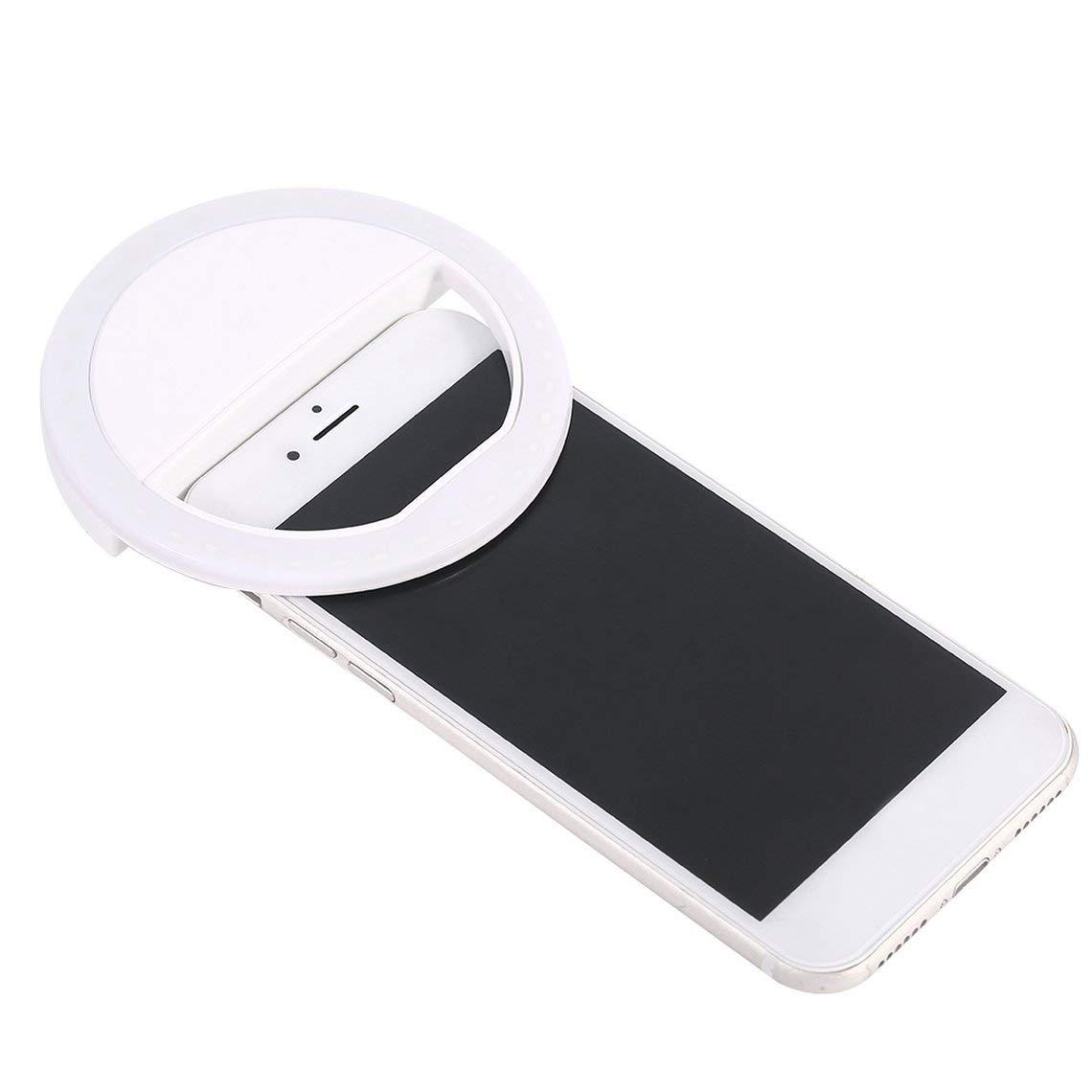 Zinniaya SG-11 Mini tel/éfono Recargable LED Selfie L/ámpara Anillo Luz port/átil Anillo Luz Mejora Fotograf/ía Noche Uso de la luz