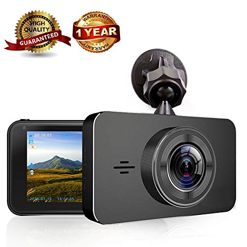 Dash Cam,Dashboard Camera Driving Recorder with 3″ LCD Screen FHD 1080P, Car Audio DVR 170° Wide Angle, On-Dash Video Vehicle Infrared Night Vision Recorded, Loop Recording,G-Sensor, Motion Detection