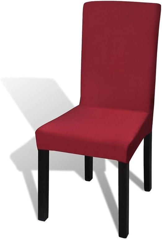 taofuzhuang Funda elástica para sillas con Respaldo, 6 Piezas, BurdeosCasa y jardín Decoración Fundas: Amazon.es: Hogar