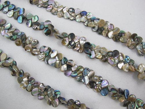 BRCbeads Abalone Natural 10x12mm 80 90pcs