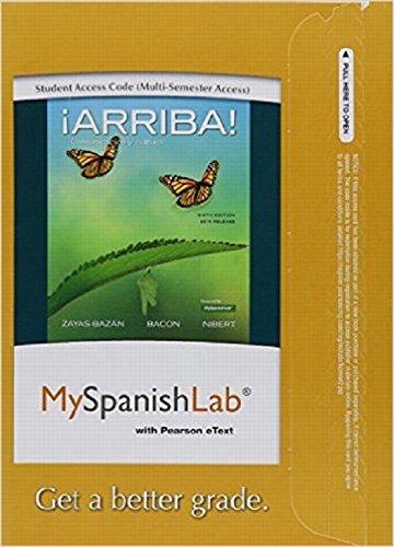Arriba!   Myspanishlab (Multi Semester)