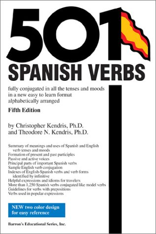 501 Spanish Verbs (5th Edition): Amazon co uk: Christopher