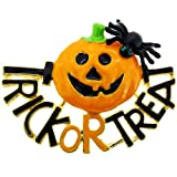 Trick orTreat Pumpkin With Spider Halloween Pin Brooch And Pendant
