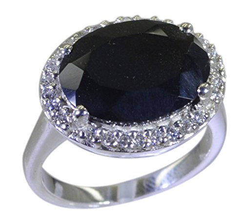 Gemsonclick Black Onyx Ring Real Sterling Silver Oval Shape Halo Setting Handmade Size 5,6,7,8,9,10,11 - Onyx Flower Shaped Ring