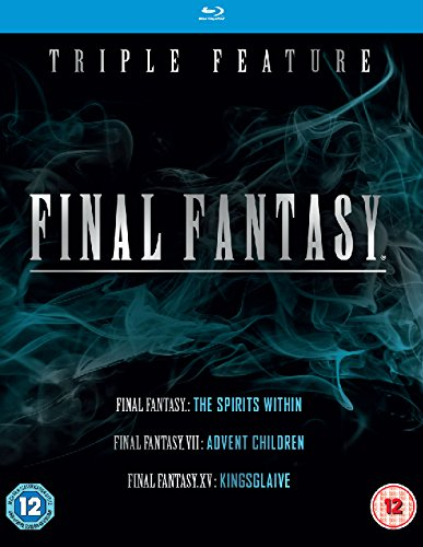 Final Fantasy Triple (Kingsglaive: Final Fantasy XV, Final Fantasy: The Spirits Within, Final Fantasy VII: Advent Children)  [Blu-ray] [Region Free]