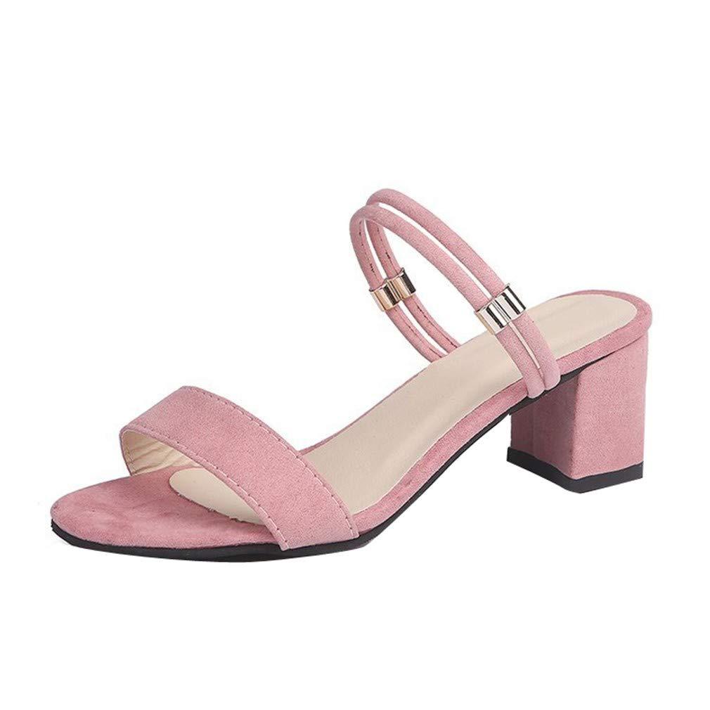 YUCH en Chaussures Été pour Chaussures Femmes Épaisses avec des Pantoufles Froides en Été Pink 7b09a55 - piero.space