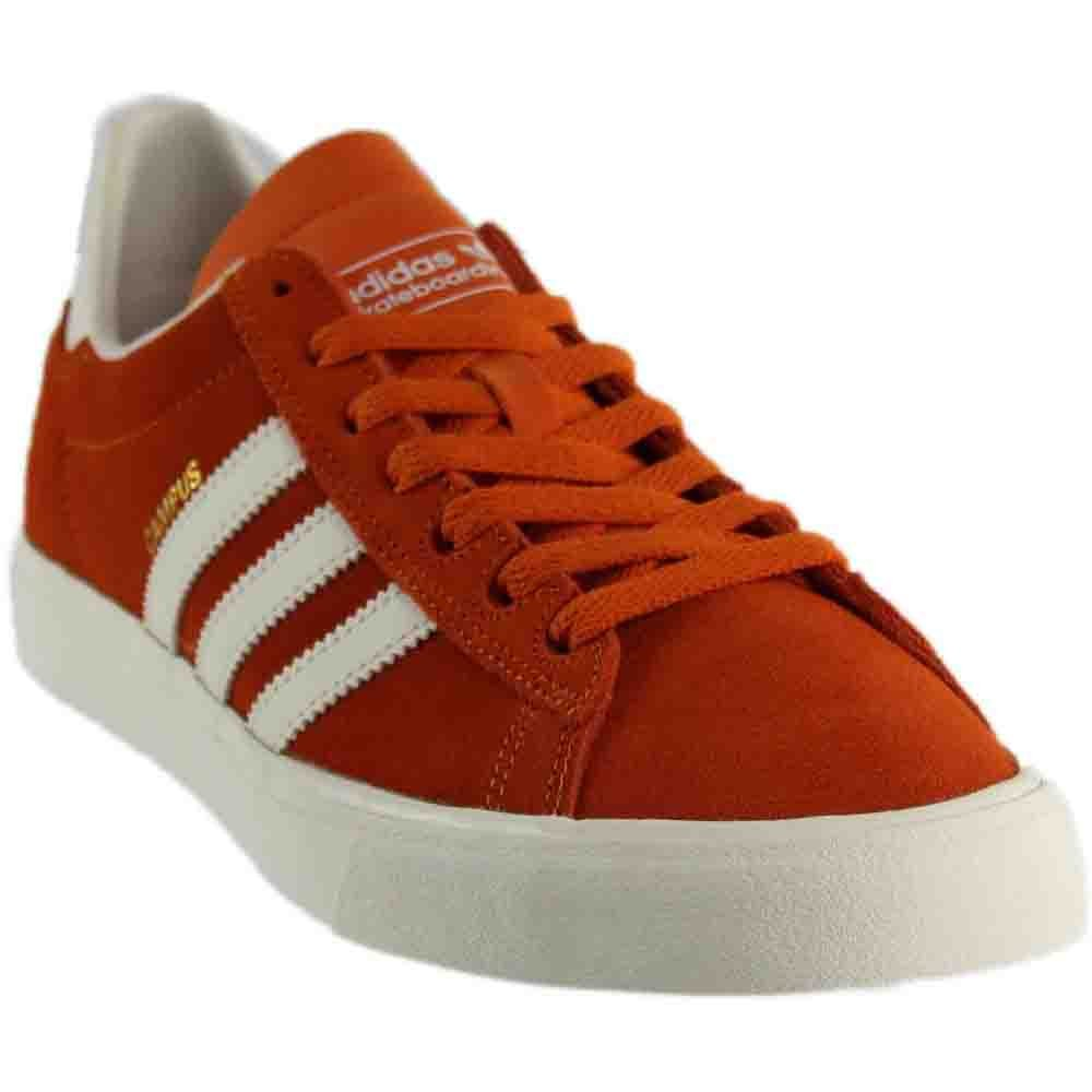 adidas Skateboarding Mens Campus Vulc II ADV 5 D(M) US|Tactile Orange/Chalk White/Chalk White