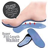TRAVEL FEET NEW!!! SUPER Full-Length-Cushioned BALANCE Arch SUPPORTS (13 US Men, 1 pair Worker Grey High Lift)