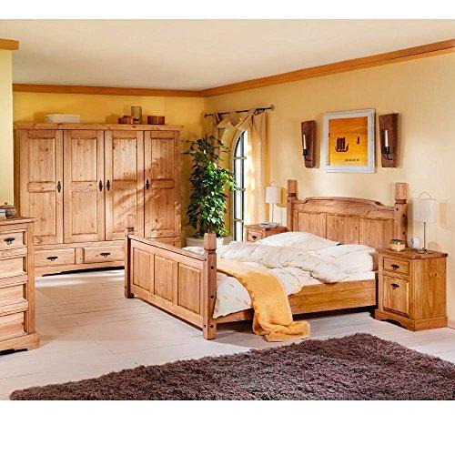 Schlafzimmer-komplett-Mexican-Kiefer-massiv-Braun-Massivholz-180-x-200