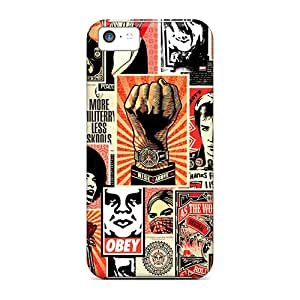 Hot Style FsUEXSD5799GFhUU Protective Case Cover For Iphone5c(obey Collage)