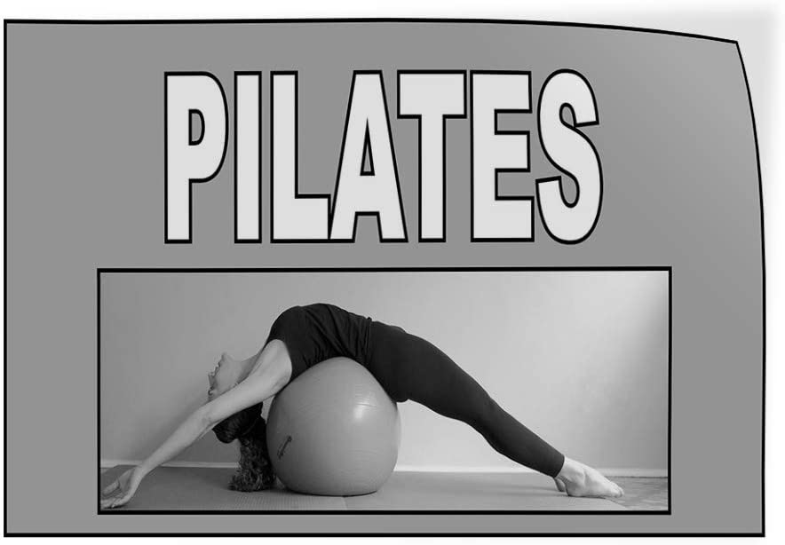 Decal Sticker Multiple Sizes Pilates Grey White Health Care Physical Fitness Outdoor Store Sign Grey One Sticker 69inx46in