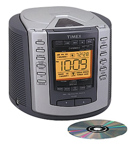 amazon com timex t601g nature sounds clock radio stereo cd player rh amazon com timex t617s cd clock radio manual Timex WR100M Manual