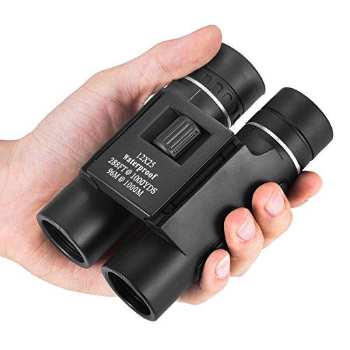 OMZER 12X25 High-Powered Waterproof Fogproof Binoculars with Low