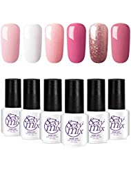 Gel Nail Polish for Nails, Soak Off UV LED Pink Gel Kit Required Gel Base Top Coat LED Nail Lamp by SEXY MIX