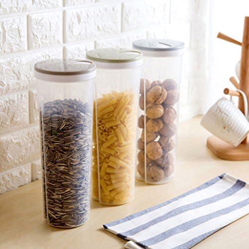 Tallarines de espagueti de almacenamiento de alimentos//recipiente de pasta herm/ético a prueba de fugas con tapas de bloqueo